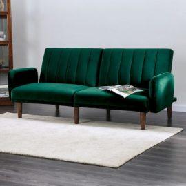 Plush Futon Sleeper sofa