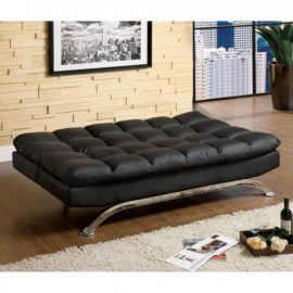 ARISTO BLACK FUTON CHAISE
