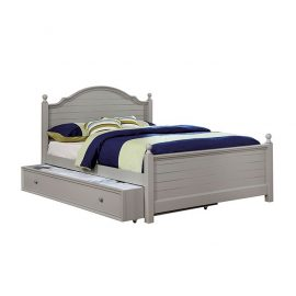 Diane Soft Grey Twin or Full Bed Frame