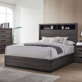 Conwy Grey Wood Bed