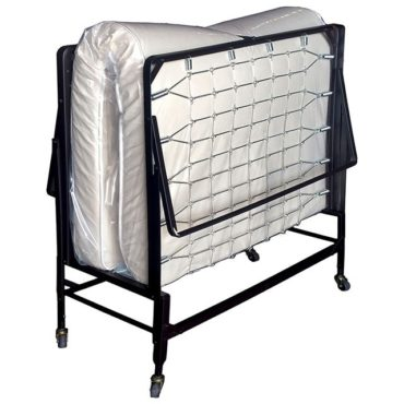 """This rollaway bed with polyfiber mattress features 2"""" ball bearing casters, automatic leg opening, and a quality polyfiber mattress."""