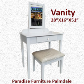 IRIS One Drawer Vanity Desk