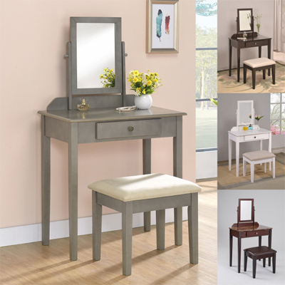 IRIS One Drawer Vanity Desk