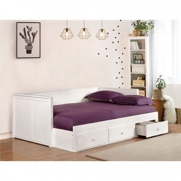 Wolford White Full Daybed