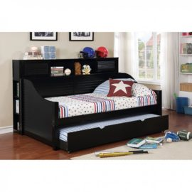 FLO Black Daybed with Bookshelf