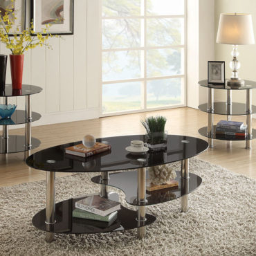 3pcs Glass Coffee table set