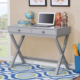 Conroe Grey Writer Desk