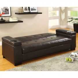 Logan Futon Sleeper Sofa Black