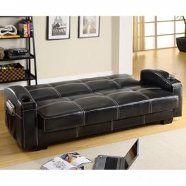 Colona Futon Sleeper Sofa Black