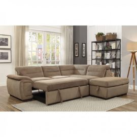 Felicity Sleeper Mocha Sectional