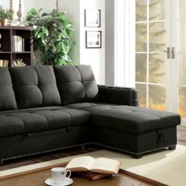 Demi Grey Sleeper Sectional