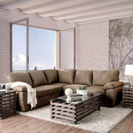 Alka Sleeper Brown Sectional