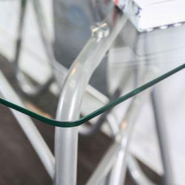 Orbiter Silver/Glass Desk