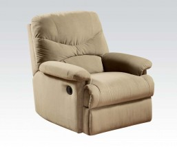 Beige Linen Fabric manual recliner