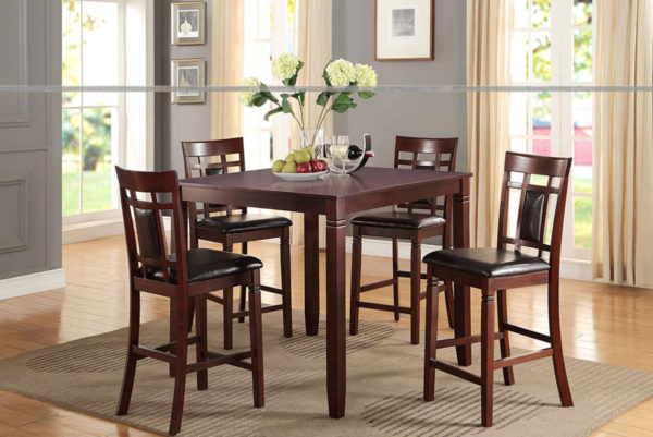 5pc cherry counter Height dining set