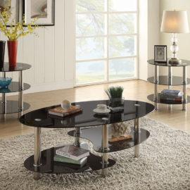3pcs Glass Coffee table set