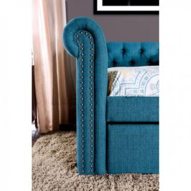 LEANNA TEAL DAYBED W/ TRUNDLE