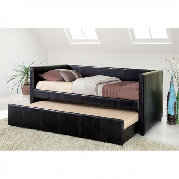 CADIZ WHT DAYBED W/ TRUNDLE