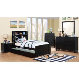 Marlee Black Captain Bed