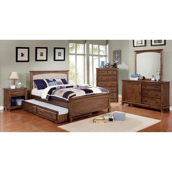 Colin Dark Oak Bed Set Paradise Furniture Store
