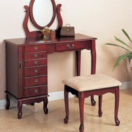 Brown Red Vanity Set