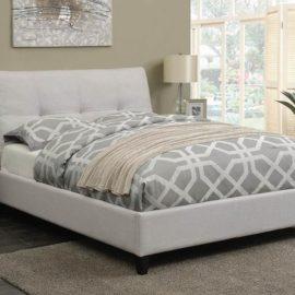 Amador Beige Upholstered Platform Bed
