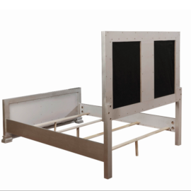 Adele Contemporary Metallic Bed Frame in Full, Queen and King sizes.