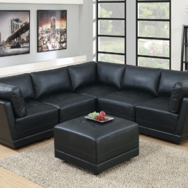 Black Modular selfmade sectional