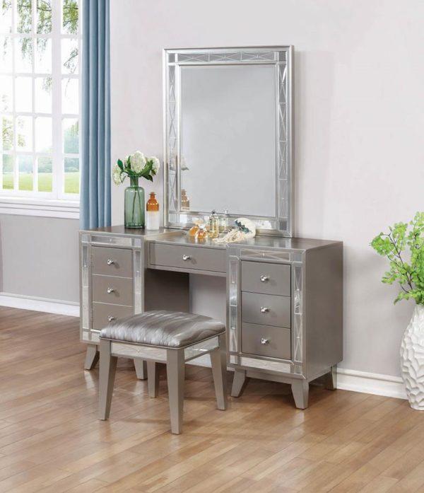 Leighton Contemporary Vanity Desk And Stool