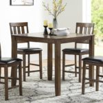 5 Piece walnut dining set