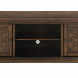 60″ TV Console Golden Brown