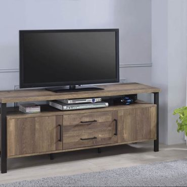 59″ TV Console Rustic Oak