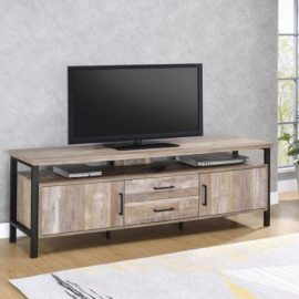 71″ TV Console Weathered Oak