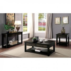 Rhymney Antique Black Coffee Table