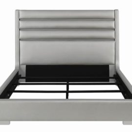Constantine Bed With LED Lights Metallic Grey