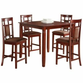 Sonata 5 Piece Counter Height Set in Cherry and Chocolate