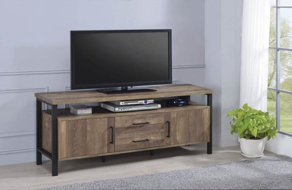 59″ TV Console Rustic Oak