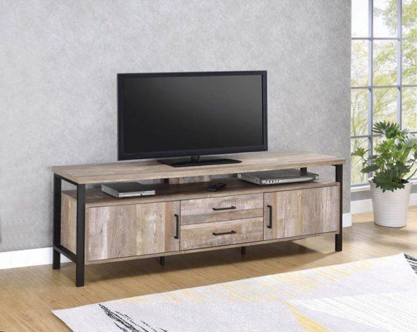 71″ TV Console Weathered Oak