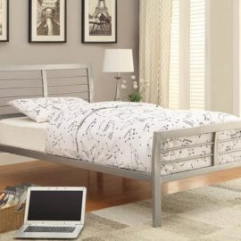 Cooper Contemporary Silver Metal Bed