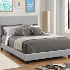 DORIAN UPHOLSTERED BED GRAY