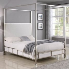 Claire Upholstered Canopy Bed
