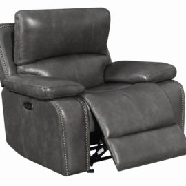 Ravenna Charcoal Power Glider Recliner