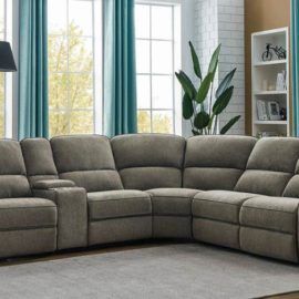 Dundee Beige 6-Piece Power^2 Sectional