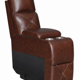 Chester 6-Piece Chocolate Power Sectional console