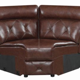 Chester 6-Piece Chocolate Power Sectional Wedge