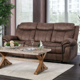 Celia Khaki Tan Recliner Sofa
