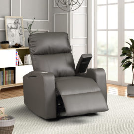 Terry Entertainment Recliner Gray