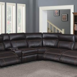 Albany 6Pc Modular Power^2 Sectional brown
