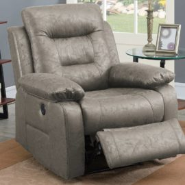 Faux Leather Power Recliner