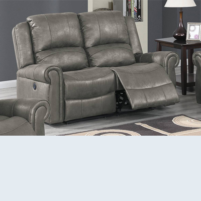 Faux Leather Power Recliner Loveseat